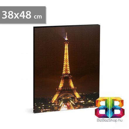 """LED-es fali hangulatkép - """"Eiffel torony"""" - 2 x AA, 38 x 48 cm"""