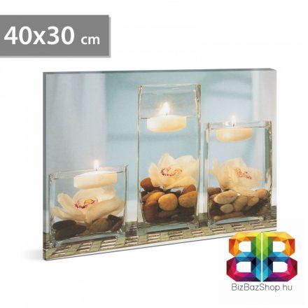 "LED-es fali hangulatkép - ""Wellness"" - 2 x AA, 40 x 30 cm"