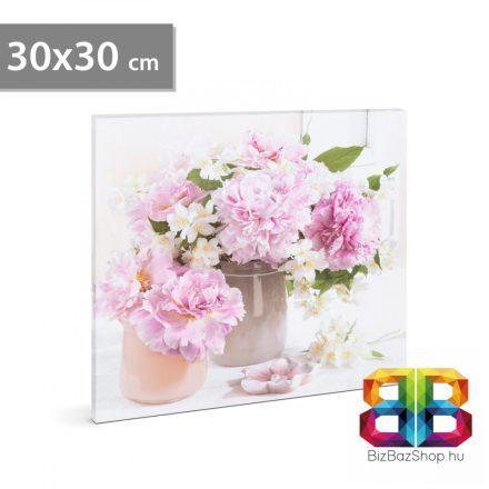"""LED-es fali hangulatkép - """"Virágok"""" - 2 x AA, 30 x 30 cm"""