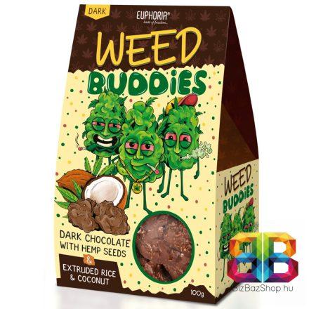 Euphoria Weed Buddies étcsokoládé kendermaggal – 100g