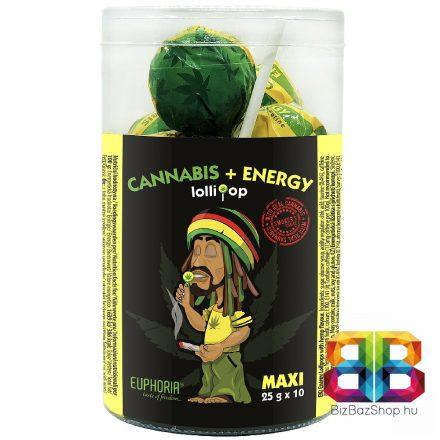 Euphoria Kannabiszos Maxi Energia Nyalóka 10x25g