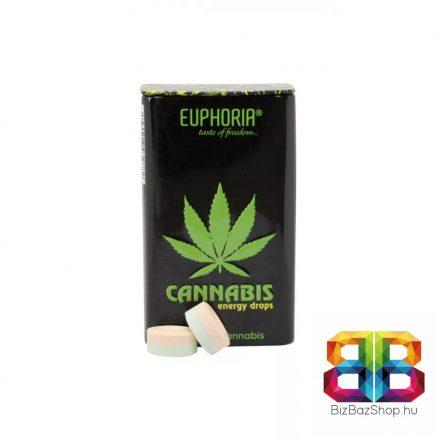 EUPHORIA Cannabis ízű mentolos cukorka 25g