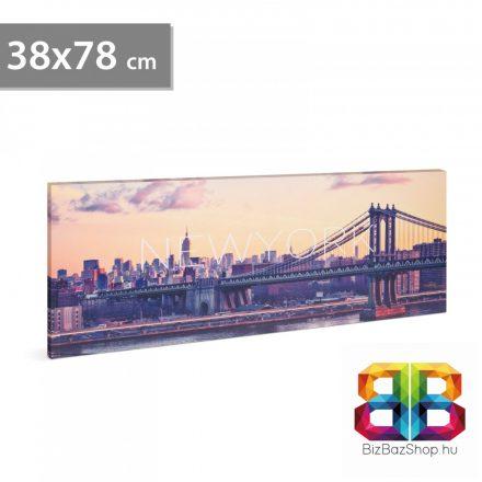 """LED-es fali hangulatkép - """"New York"""" - 2 x AA, 38 x 78 cm"""